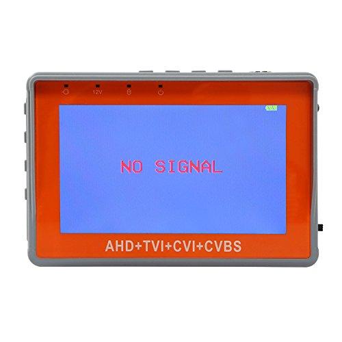 OnvianTech Kamera Tester 4.3 Zoll Handgelenk TFT LCD CCTV Tester 1080P AHD TVI CVBS Test Analog Video MonitorTest 12V Stromausgang Kabel Test 3 IN 1
