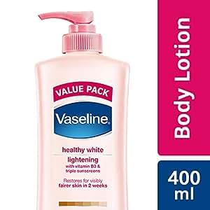 Vaseline Healthy White Lightening Visible Fairness Body Lotion, 400 ml