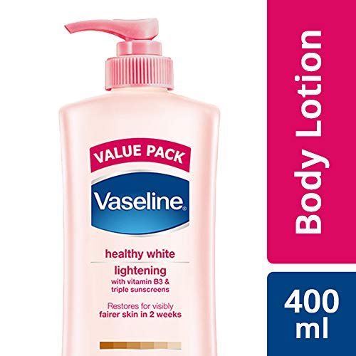 Vaseline Healthy White Lightening Visible Fairness Body Lotion, 400 ml