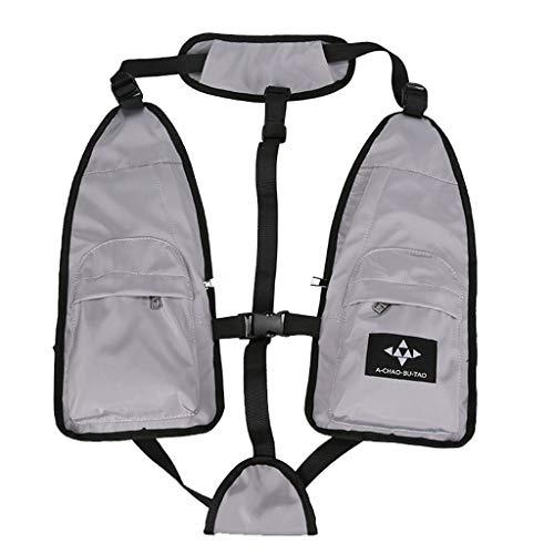 Rucksack Freizeit Reißverschlusstasche Student Rucksack Taktische Weste Tasche Paar Nylon Rucksack