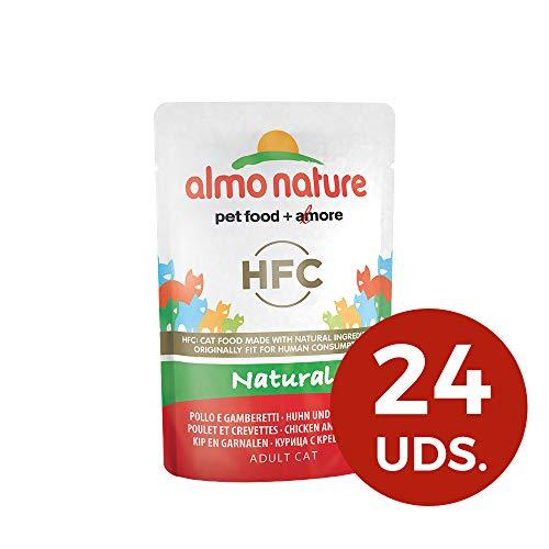 almo nature HFC Naturel Wet Cat-Restaure Poulet et crevettes (Lot de 24x 55g sachets)