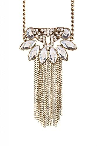 Lux accessori Fringe dettagliate &-Collana in resina