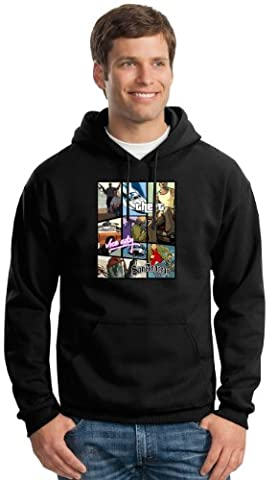 Inspired Grand Theft Auto Black Hoodie All Size Free Delivery (XS-XXL) XS