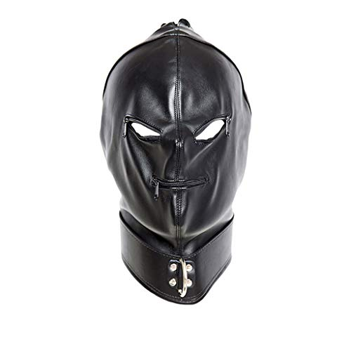 MJ- Kopfmaske Bondage Fetisch SM Sex Toys4 Fetisch Kostüme Erotik Mund Plug Einschränkungen Sexy Rollenspiele Bundle Adult Produkte Flirt Head Bag Hood Zipper (Mj Care Maske)