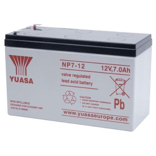Yuasa Gymstock NP7-12 Blei-Säure-Batterie SLA, 12 V, 7,0 Ah 12-volt-sla-batterie
