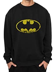 Batman Distressed Logo Sweat-shirt noir