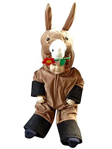 Seruna F11/00 Gr. 80-86 Esel Kostüm für Fasching und Karneval, Kostüme für Baby Babies Kleinkinder, Faschingskostüm, Karnevalkostüm (Pferd Kostüm Kleinkind)
