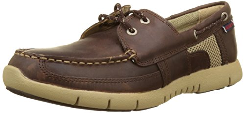 Sebago Kinsley Two Eye, Chaussures Bateau Homme Marron (Dk Brown Leather)