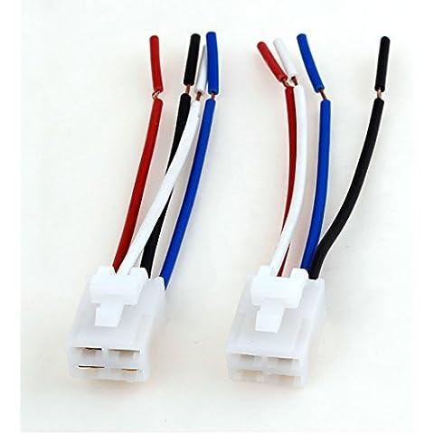 2 pcs base de la bobina 4 cables de 4 pines del alambre del coche Relay Socket Conector