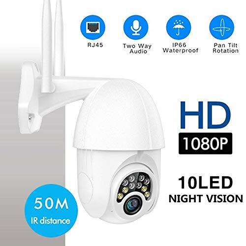 Ip Kamera, 10LED Lichter 1080 P Tag Nacht Vollfarbe 360   Grad-umdrehung Drahtlose WiFi Im Freien IP66 wasserdichte 2,5 Zoll Ball PTZ Mini Dome Home Security IP Kamera Nachtsicht Erkennung Hotspots