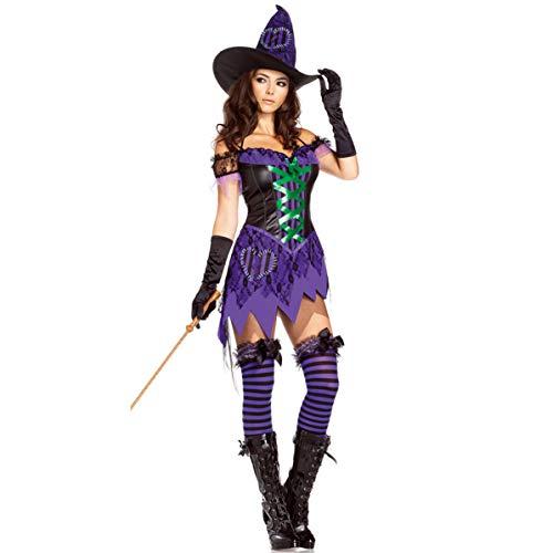 1503d30c71b2 Sexy Strega Diavolo Costume Cosplay Gioco di Ruolo Uniforme da Gioco  Halloween Strega Costume con Un