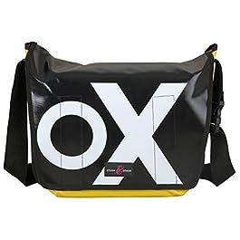 Sturm & Drang – Maxi borsa messenger bag in tela cerata – Borsa a tracolla