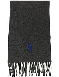 Polo Ralph Lauren Men's 100% Virgin Wool Winter Scarf (Windsor Heather)