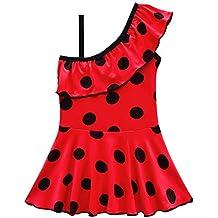 41a5937ffdebe Eleasica Filles Été Mignon Maillots de Bain Une Pièce Coccinelle Vêtement  de Bain Miraculous Ladybug Culotte