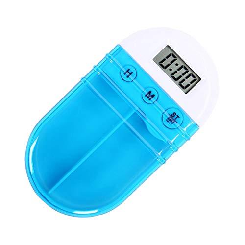 Pille Reminde Alarm,Tragbare Grid Intelligente elektronische Zeit Pille Fall Alarm Timer Pillen Digitale Erinnerung Aufbewahrungsbox Beste Geschenk für Frauen Gesundheitswesen (Timer-pille Fällen)