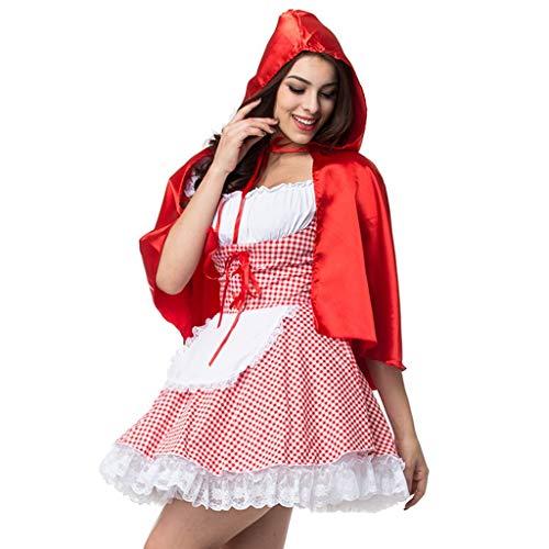 Kostüm Kleid Carrie Prom - K-Y Damen Lange Ärmel Kleider Halloween Kostüm Cosplay Hexe Hut Kostüm Set Vintage Abend Party Prom Dress