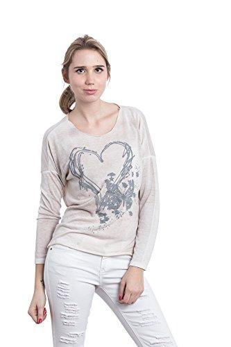 Abbino Shirt 15524-3 - Made in Italy - Spitze & Festlich - 3 Farben Beige