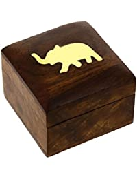 Womens Gift Wooden Jewellry Boxes Unique Gift for Her 5.08 cm x 5.08 cm x 3.81 cm