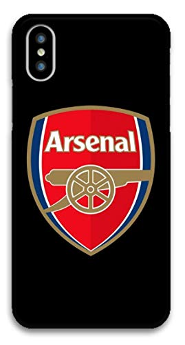 Arsenal F.C. Schutzhülle für iPhone XS, Motiv Fußballclub, iPhone XS, A Black