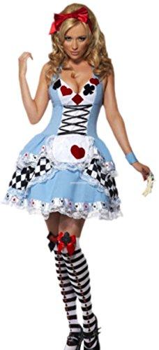 erdbeerloft - Damen Alice im Wunderland Kostüm, Karneval, Fasching, M, Hellblau