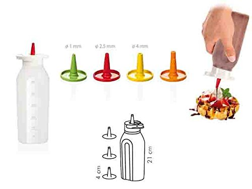 ag17# Tescoma Dosierflasche 250ml Saucen Dekoration Sweet Kuchen Professional Chef Kitchen Chef Geschenkidee