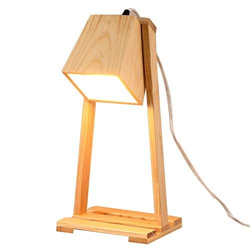 CX AMZ Dekoration Tischlampe, zeitgenössische minimalistische Holz Tischleuchte, Stoff Holz Tischlampe, geeignet für Schlafzimmer Nachttisch Tischleuchte, einzigartige Hauptdekor