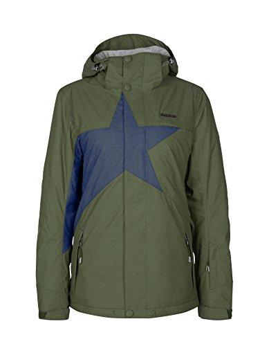 Zimtstern Damen Snow Jacket Snowy Mash, Olive, L
