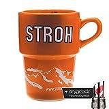 Stroh Exklusiv Tasse, Spirit of Austria, orange, Markentasse + Flaschenausgiesser