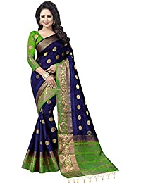 2bf9cd9af9015 C J Enterprise Women kanjivaram silk saree pure With Blouse Piece
