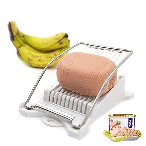L.SMX Obst- Und Gemüseschneider Edelstahldrahtschneider Küchenschneider Für Mittagessen Fleisch Schinken Gekochtes Ei Käse Sushi Obstschneiden -