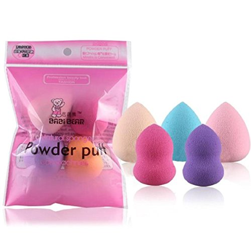 Maquillage éponge Blender 5PCS, Xjp Professional Cosmetics Sponges for Women