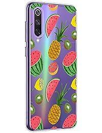 Oihxse Funda Xiaomi Mi 8 Lite, Ultra Delgado Transparente TPU Silicona Case Suave Claro Elegante Creativa Patrón Bumper Carcasa Anti-Arañazos Anti-Choque Protección Caso Cover (A4)