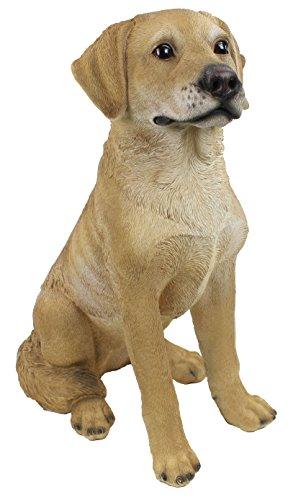 Dekofigur Hund sitzend aus Polyresin
