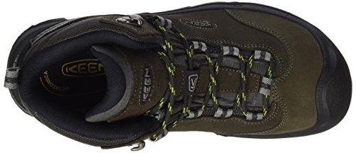 Keen Damen Wanderer Mid WP Trekking-& Wanderstiefel Braun (Raven/Bright Chartreuse 0)