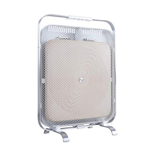 BioSari Marmor Infrarotheizung   Heizkörper   Heizpanel   1300 Watt   Fern Infrarot   Wärme die an Sonnenschein erinnert (Weiß)