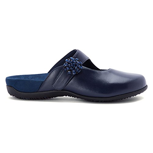 Vionic By Orthaheel Women's Joan Black Fabric And Leather Casual 8 B(M) US Bleu Marine