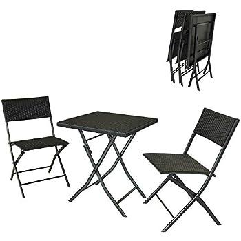 Table En Rattan De 2 Salon Chaises Et Carrée Jardin 1 Dlandhome c5S3Ajq4RL