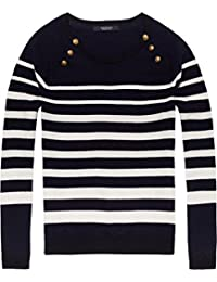 Scotch & Soda Women's Fitted Pull With Buttons At Raglan Jumper