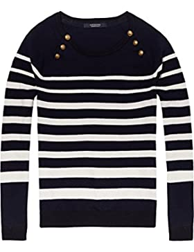 Scotch & Soda Maison Fitted Pull with Buttons At Raglan, Suéter para Mujer