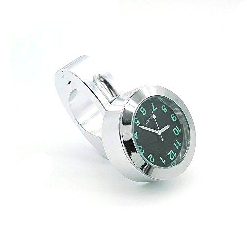 heinmo Motorrad Lenkerhalterung Uhr Passform 25mm Lenker Uhr Street Bike watch universal Wasserdicht -