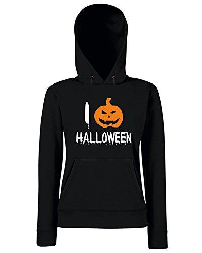 T-Shirtshock - Sweats a capuche Femme T0349 i love halloween festivita Noir