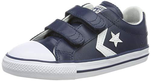 Converse Lifestyle Star Plyr 2V Ox, Zapatillas Infantil, Azul Navy/White 412, 25 EU
