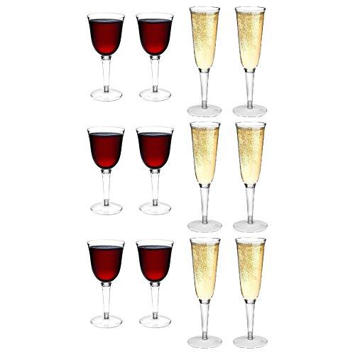 f Weingläser und Champagner im Freien Flöten - Set 12 ()