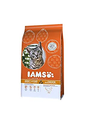 Iams Proactive Health Complete and Balanced Cat Food with Chicken, 3 kg