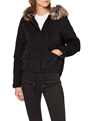 ONLY Damen Onlnew Skylar Aw Fur Cc OTW Parka, Schwarz (Black Black), Medium (Herstellergröße:M)