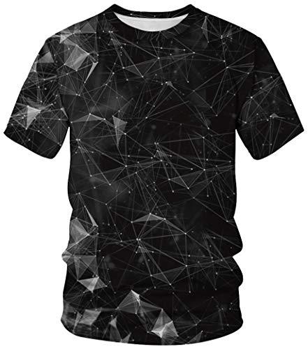Kostüm Flügel Engel Männer - Ocean Plus Unisex Rundhals Sportswear T-Shirt Kostüm mit Aufdruck Fasching Größen S-3XL Tops mit Kurzarm (M (Referenzhöhe: 160-165 cm), Schwarze Konstellation)