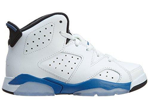 nike in stile retrò che per bambini air e jordan 6 BP hi top ginnastica 384666 cover per scarpe - Colour: White Sport Blue Black
