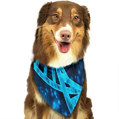 Rghkjlp Blue DNA Pet Bandana Triangle Dog Cat Neckerchief Bibs Scarfs Accessories for Pet Cats and Baby Puppies