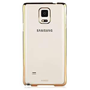 XUNDD Jazz Series Ultra Slim Transparent Clear Case For Samsung Galaxy Note 4- with Golden Border