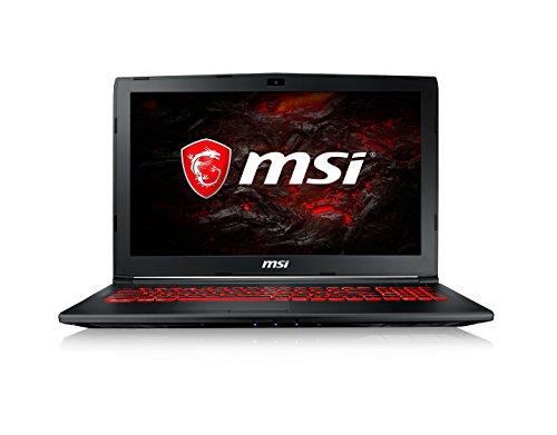 """MSI GL62M 7REX-2201XES - Ordenador portátil de 15.6"""" FHD (Kabylake i7-7700HQ, RAM de 8 GB DDR4, HDD de 1 TB y SSD de 256 GB, Nvidia GeForce GTX 1050 Ti, sin sistema operativo) color negro"""